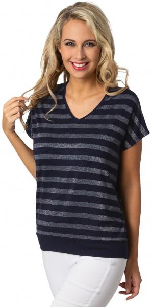 Estefania for woman, Streifenshirt mit V-Ausschnitt