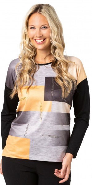 Estefania for woman, Langarm-Shirt mit grafischen Druck