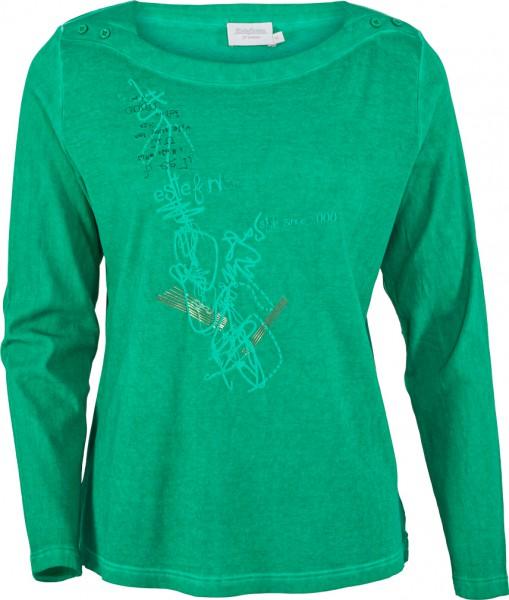 Shirt mit U-Boot Ausschnitt,oil dyed gefärbt