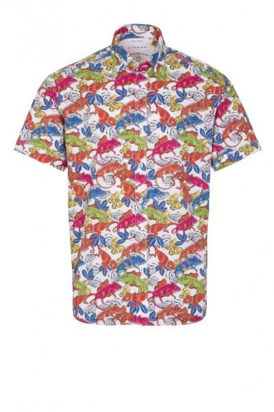 Eterna Kurzarm Hemd, Regular fit, Upcycling Shirt