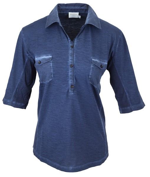 Estefania for woman,Polo Shirt im wash-out Effect,143-4100