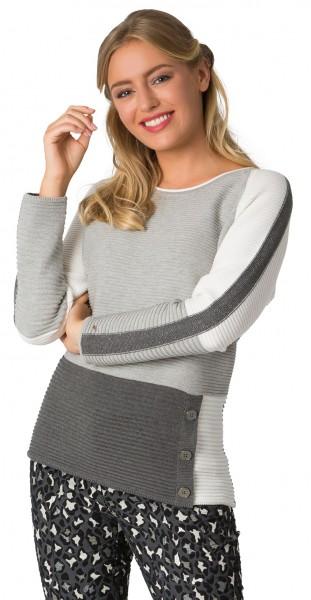 Rabe, Pullover seitl. Knoepfe und Rollkante am Ausschnitt