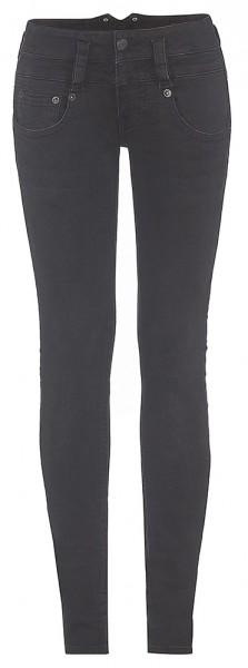 Herrlicher Pitch Slim black Stretch Jeans mit doppelten Guertelschlaufen
