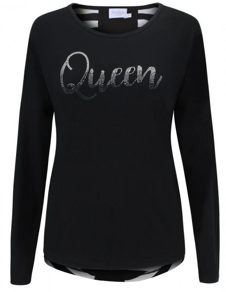 """Estefania for woman Shirt mit Aufschrift """"Queen"""""""