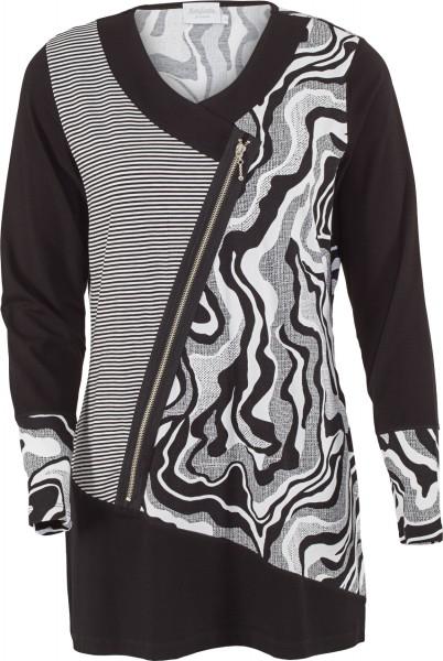 Tunika Shirt mit Zierreißverschluß
