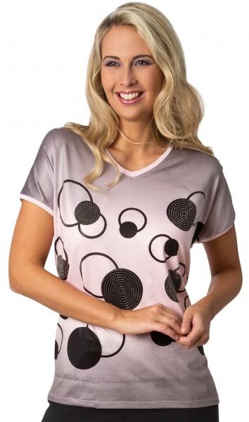 Estefania for woman, sommerliches Shirt mit V-Ausschnitt