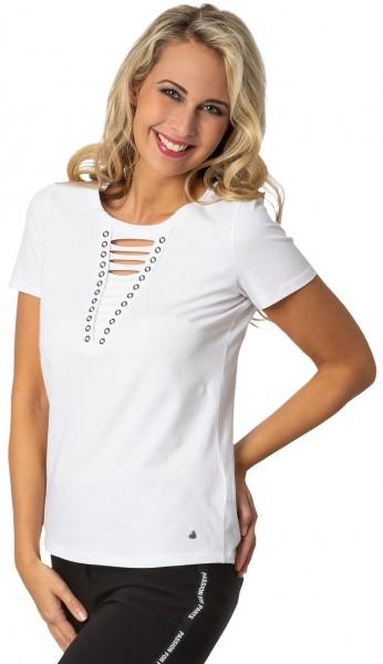Gio Milano, Shirt mit geschnittenem Vorderteil