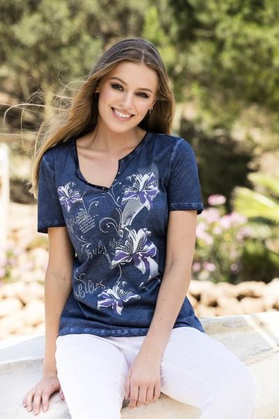 Estefania for woman, Shirt mit Liliendruck