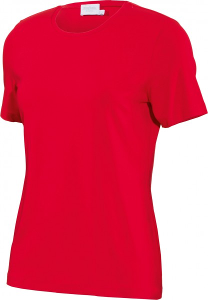 modisches Basic-Shirt in Rot Rundhals RABE Baumwolle