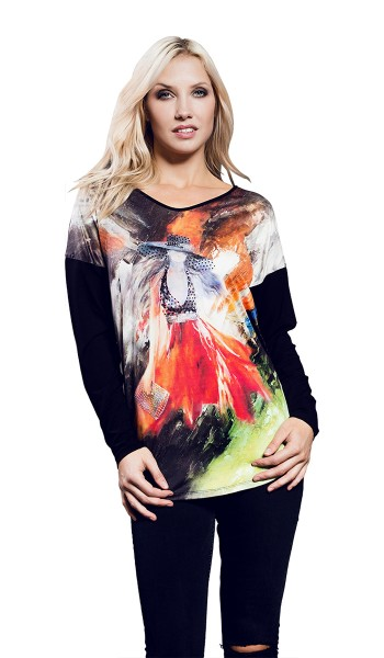 Estefania for woman , Longshirt mit Langarm