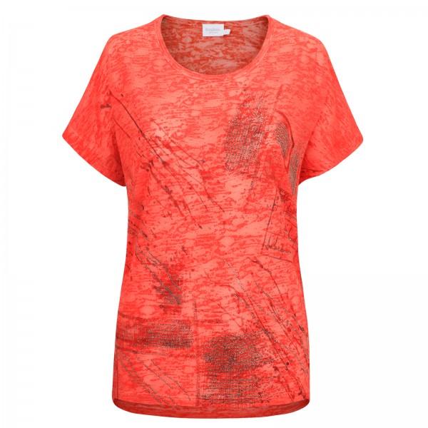 Estefania for woman, Shirt mit Ausbrenner Optik und Strassapplikationen