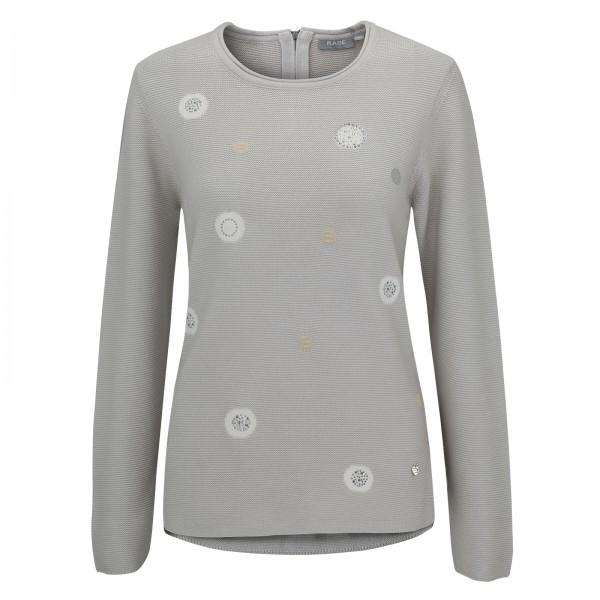 Rabe Langarm-Pullover mit Zierstrass