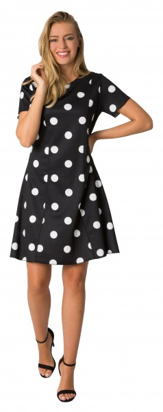 Estefania for woman, Kleid mit Bahnen mit Puenktchen Muster