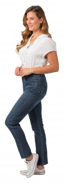 Gio Milano, Gio-Kim, bequeme Power-Stretch-Jeans mit normaler Leibhöhe